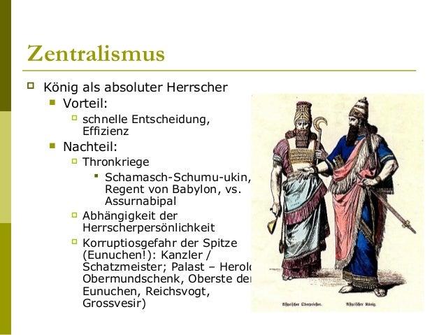 """Demographie  Priviligierte: Assyrer  Reich zu Gross um """"nur"""" von Assyrern verwaltet zu werden  Rückgang der Assyrischen..."""