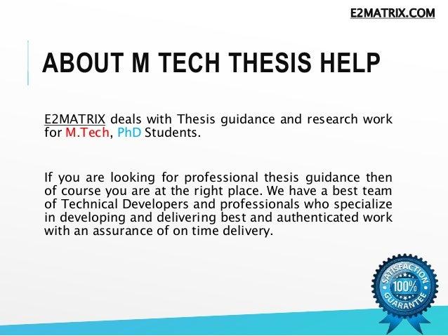 how to write m tech dissertation