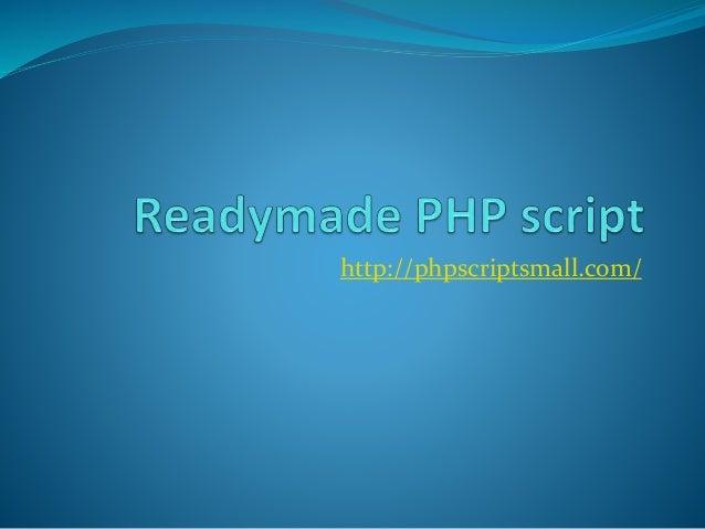 http://phpscriptsmall.com/