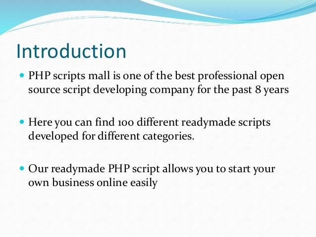 Readymade php script Slide 2