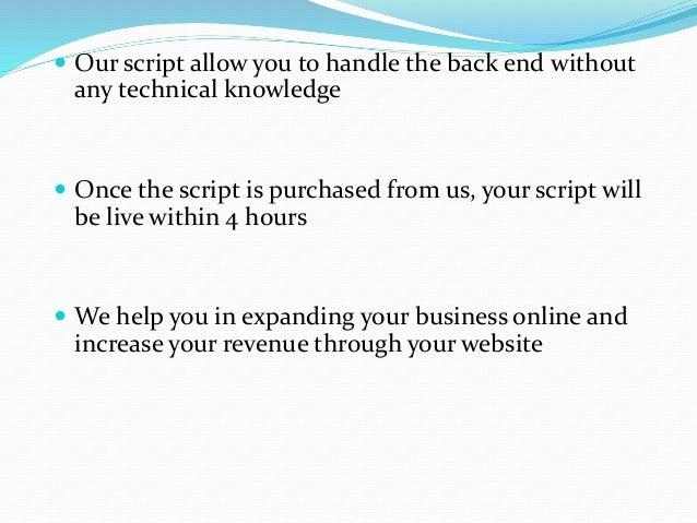 Readymade php script Slide 3
