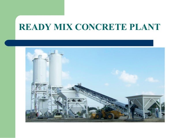 Cement Ready Mix Plant : Ready mix concrete