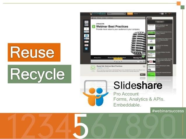 Secrets to a Successful Webinar | HubSpot and ReadyTalk Slide 13