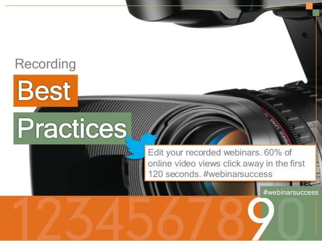 Secrets to a Successful Webinar | HubSpot and ReadyTalk Slide 21