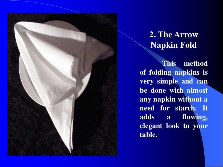 Table napkin folding for 10 easy table napkin folding