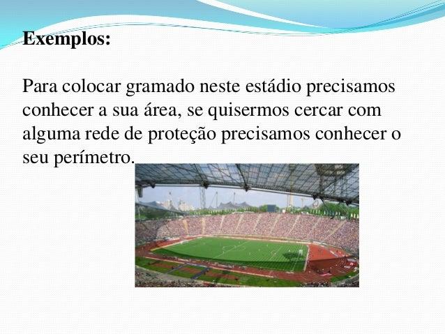 Área e perímetro de figuras planas ( apresentação) Slide 3