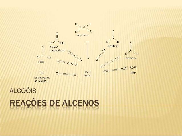 ALCOÓISREAÇÕES DE ALCENOS