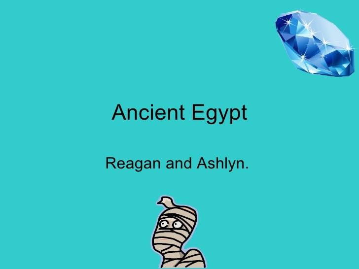 Ancient Egypt Reagan and Ashlyn.