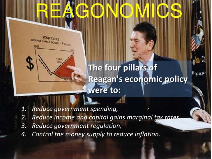 an examination of president reagans economic policies The role of ronald reagan in the history of the united states of america united states history his economic policies were intended to reinvigorate the american people and reduce their reliance on government entitlements president reagan.