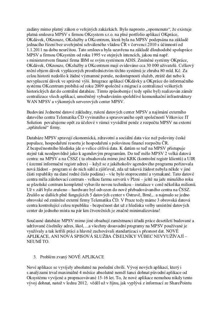 Prohlášení informatiků Úřadů práce ČR k současnému stavu na ÚP ČR  Slide 2