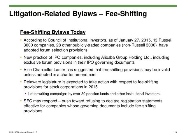 The Supreme Court of Delaware Upholds Fee-Shifting Bylaws as Facially Valid