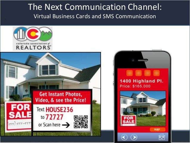 Title slideThe Next Communication Channel:Virtual Business Cards and SMS Communication