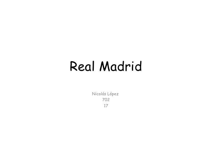 Real Madrid Nicolás López  702 17