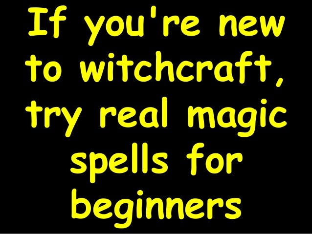 how to learn real magick