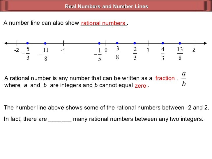 Real Numbers & Number Lines (Geometry 2_1)