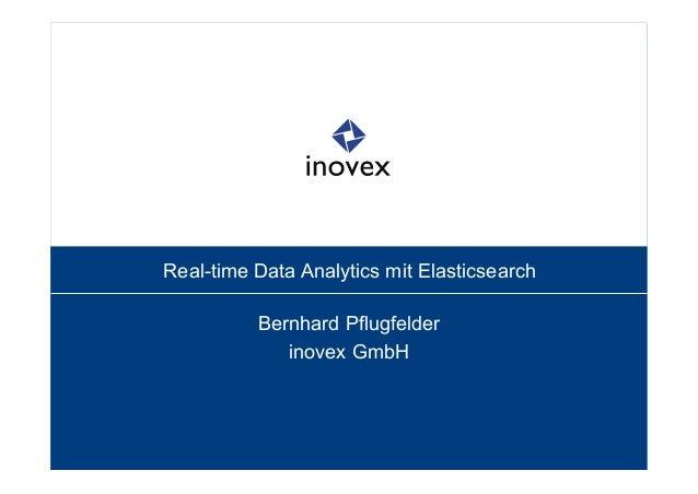 Real-time Data Analytics mit Elasticsearch Bernhard Pflugfelder inovex GmbH