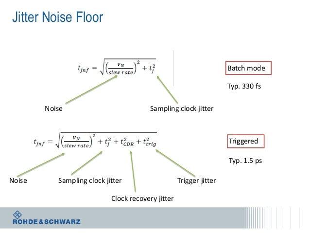 Jitter Noise Floor  Batch mode Typ. 330 fs Noise  Sampling clock jitter  Triggered Typ. 1.5 ps Noise  Sampling clock jitte...