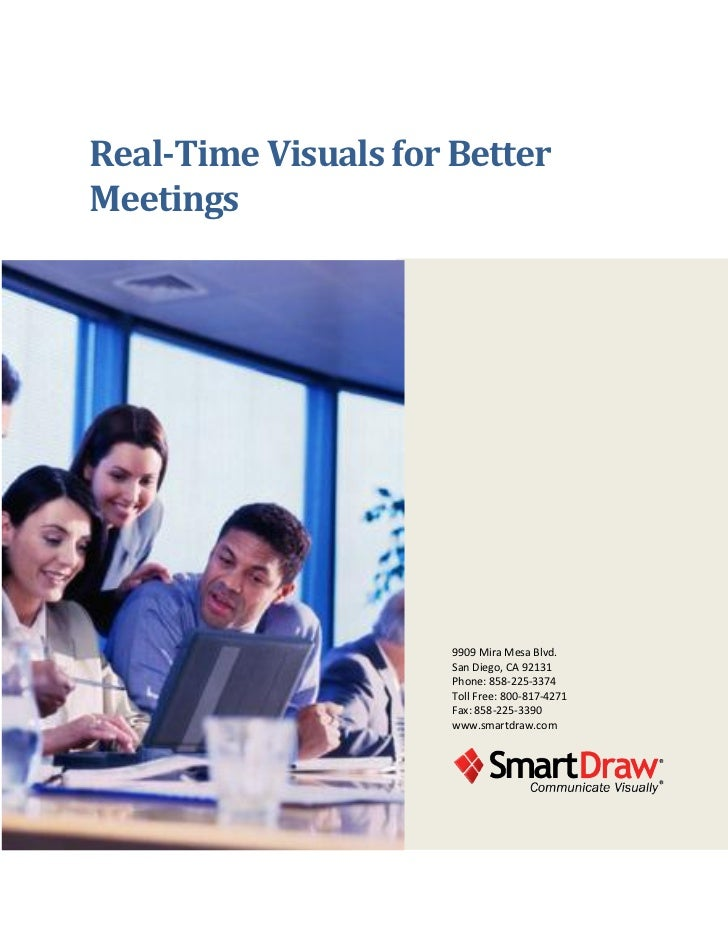 Real-Time Visuals for BetterMeetings                      9909 Mira Mesa Blvd.                      San Diego, CA 92131   ...