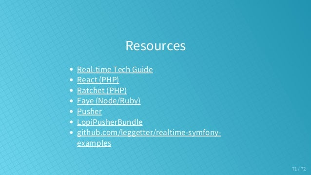 Real-Time Web Apps & Symfony  What are your options?