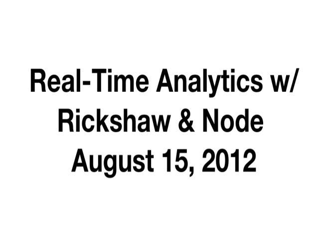 Real time metrics with rickshaw and nodejs
