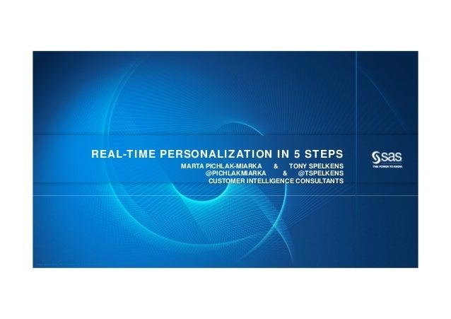 REAL-TIME PERSONALIZATION IN 5 STEPS                                                            MARTA PICHLAK-MIARKA    & ...