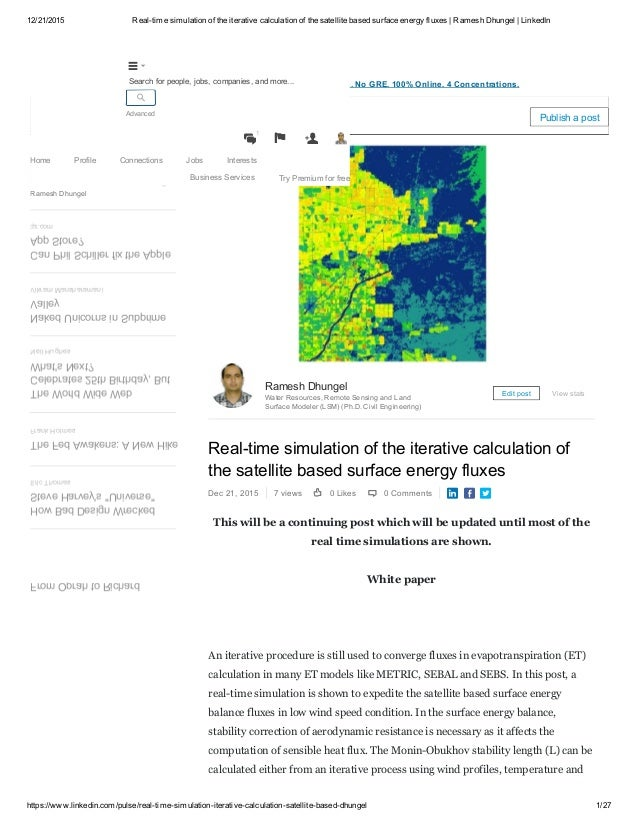 12/21/2015 Realtime Simulation Of The Iterative Calculation Of The  Satellite Based Surface ...