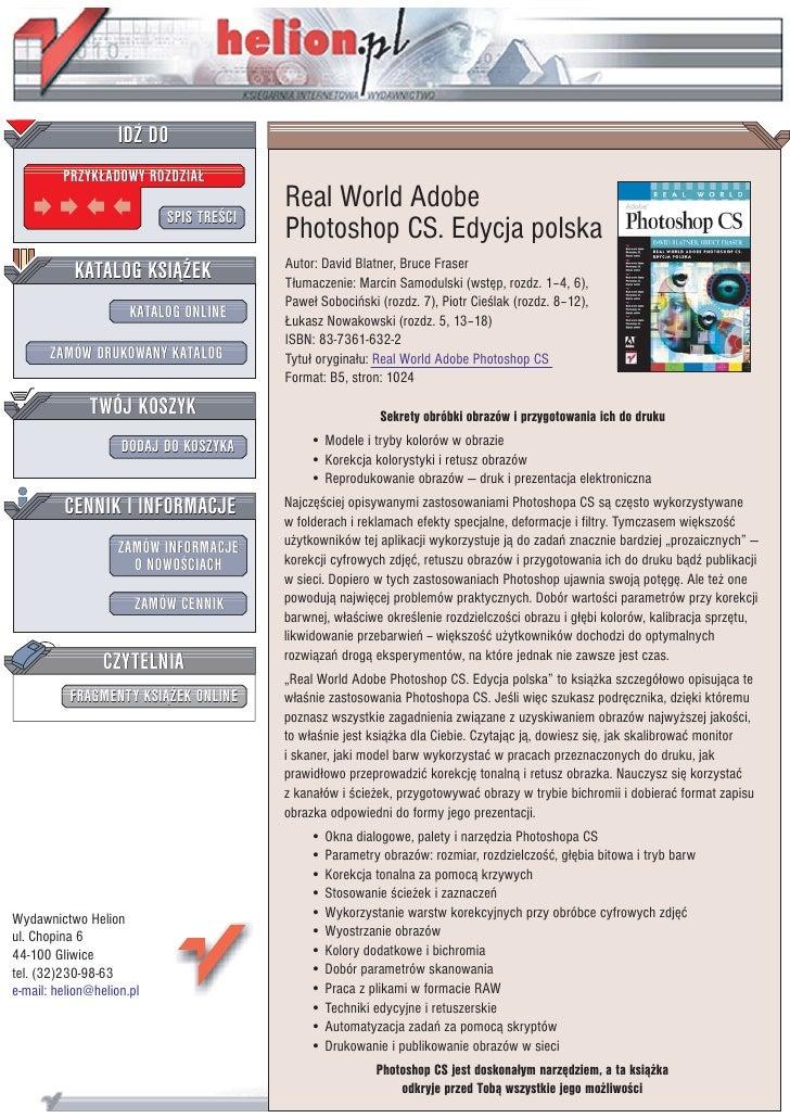 IDZ DO          PRZYK£ADOWY ROZDZIA£                                          Real World Adobe                            ...