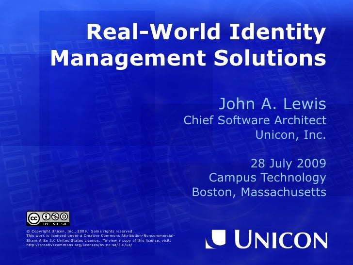 Real-World Identity            Management Solutions                                                                       ...