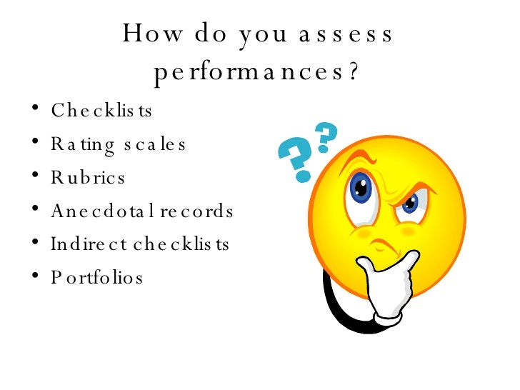Real World & Performance Assessment