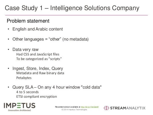 """Case Study 1 – Intelligence Solutions Company  Problem statement  • English and Arabic content  • Other languages = """"other..."""