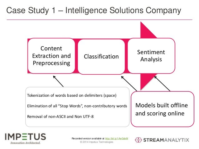 Case Study 1 – Intelligence Solutions Company  Classification  Recorded version available at http://bit.ly/1AeGdxM  Conten...
