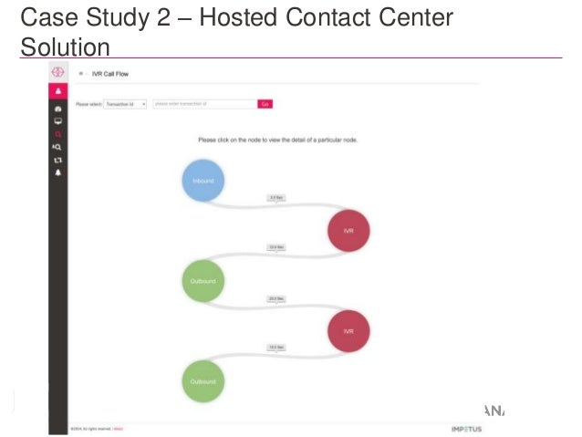 Case Study 2 – Hosted Contact Center  Solution  Recorded version available at http://bit.ly/1AeGdxM  31 © 2014 Impetus Tec...