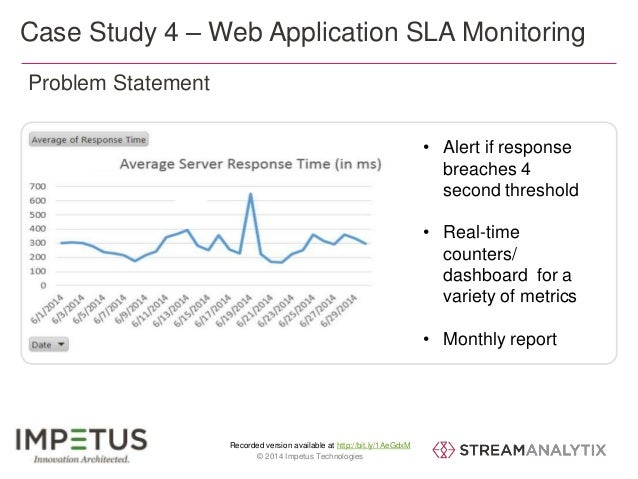 Case Study 4 – Web Application SLA Monitoring  Recorded version available at http://bit.ly/1AeGdxM  39 © 2014 Impetus Tech...