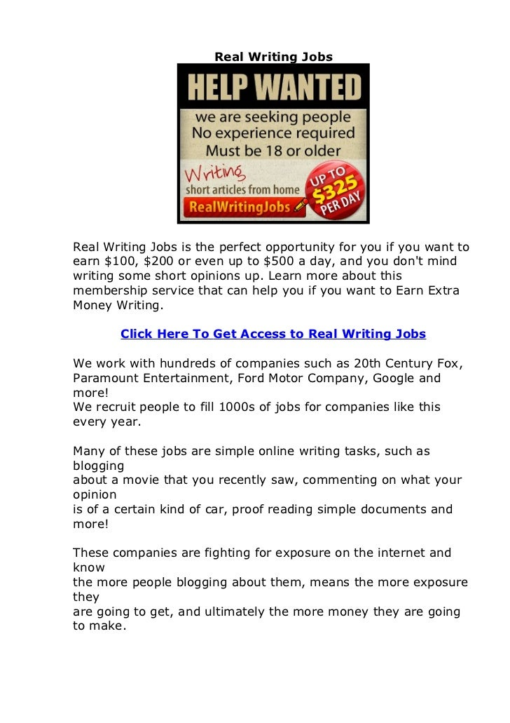 real writing jobs review does real writing jobs actually work  real writing jobsreal writing jobs is the perfect opportunity for you if you want toearn 100