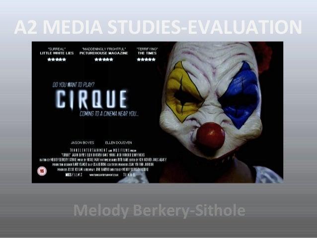 A2 MEDIA STUDIES-EVALUATIONMelody Berkery-Sithole