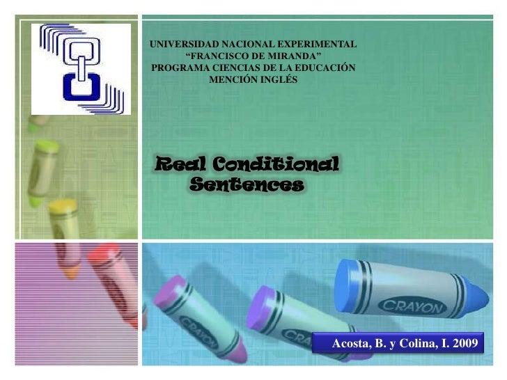 """UNIVERSIDAD NACIONAL EXPERIMENTAL<br />""""FRANCISCO DE MIRANDA""""<br />PROGRAMA CIENCIAS DE LA EDUCACIÓN<br />MENCIÓN INGLÉS<b..."""
