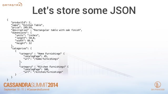 13 lets store some json