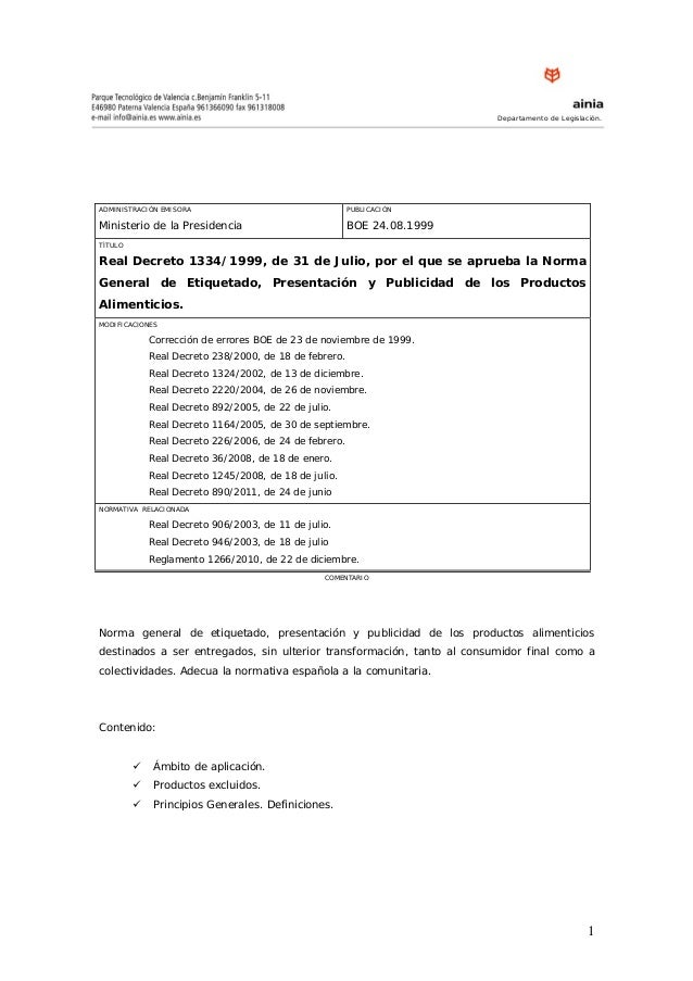 Real decreto 133499_norma_etiquetado