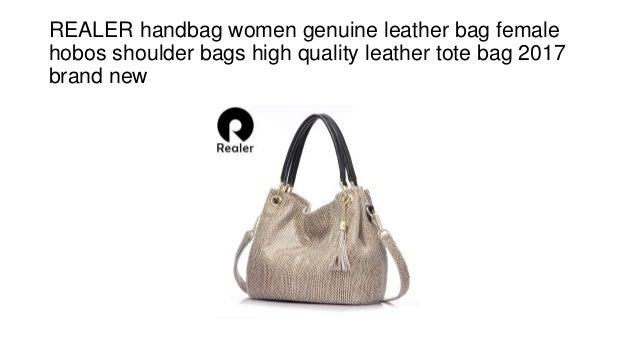 713696a7e470 Realer handbag women genuine leather bag female hobos shoulder bags h…