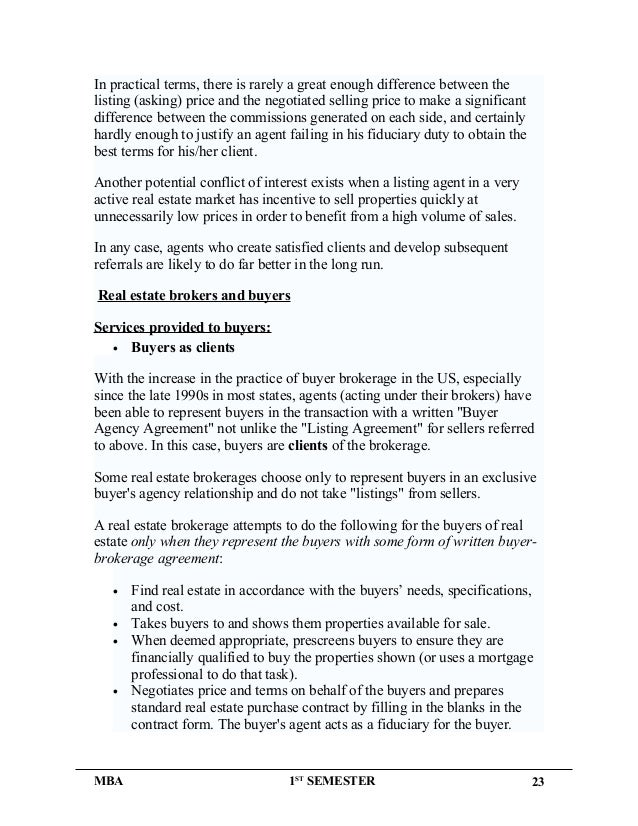 Buyers Agency Agreement Images Agreement Letter Format