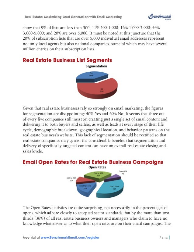 """Real Estate: Maximizing Lead Generation with Email Marketing  statistics speak for themselves: """"Less than 15%"""" equals 16% ..."""