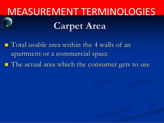 MEASUREMENT TERMINOLOGIES