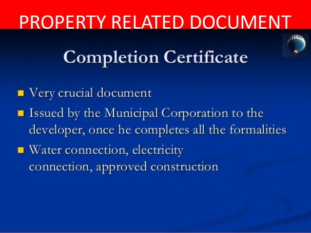 PROPERTY RELATED DOCUMENT