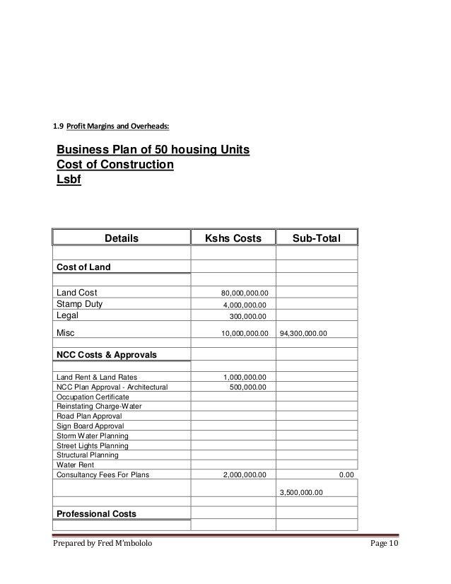 Real estate business plan in Kenya