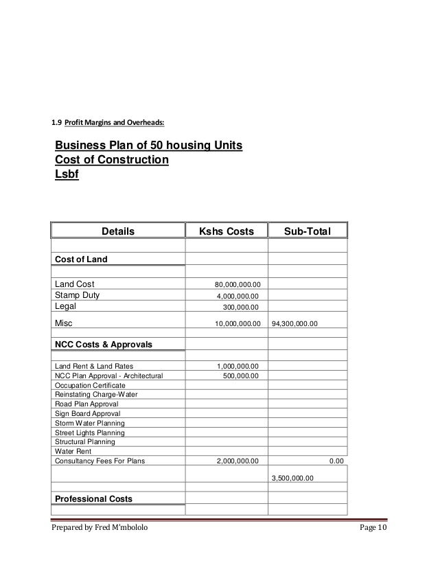 House business plan