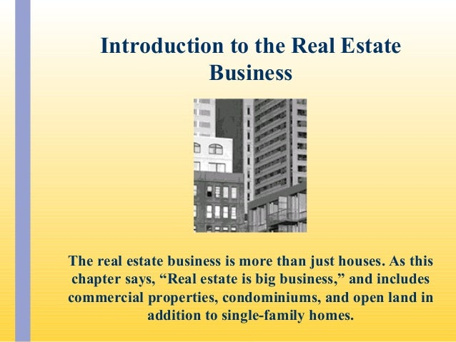 PPT for Elements That Effect Real Estate