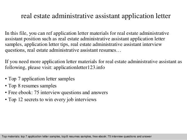 sle resume administrative assistant real estate office