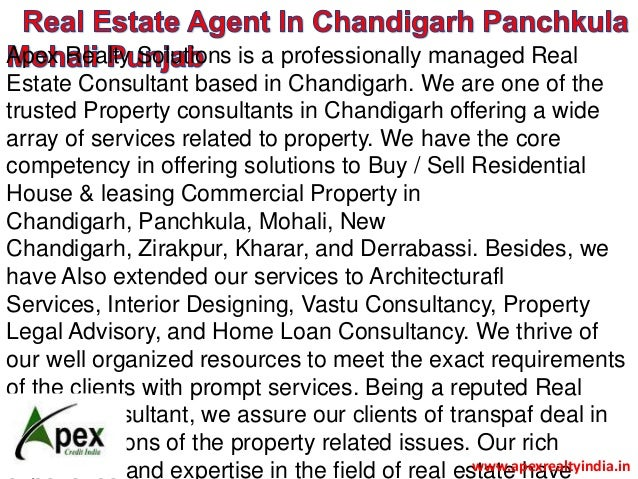 Apex Realty Solutions is a professionally managed Real Estate Consultant based in Chandigarh. We are one of the trusted Pr...