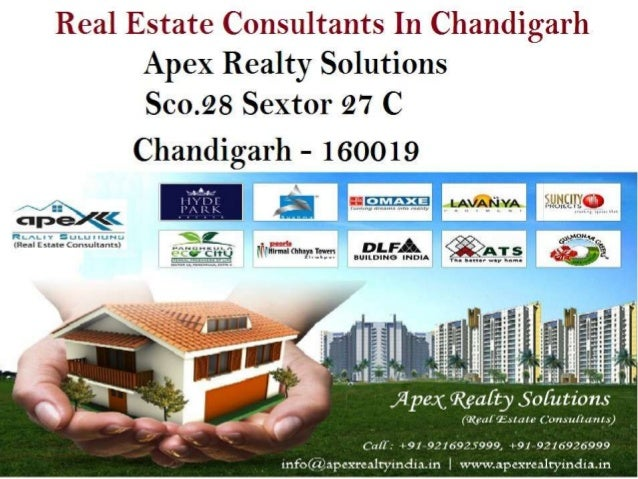 """Its takes Immense pleasure to Introduce our-self as leading Real Estate Consultants operating from Chandigarh. """"Apex Realt..."""