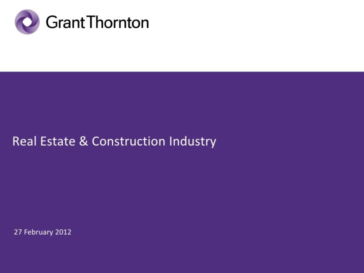 Real Estate & Construction Industry27 February 2012